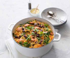 One pot pasta with chorizo