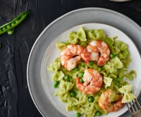 Shrimp and Green Pea Pasta