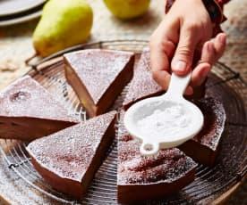 Pudding aux poires et chocolat