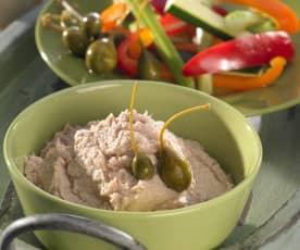 Thunfisch-Bohnen-Püree zu Gemüsestiften