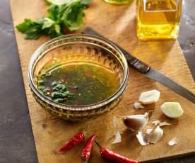 Knoblauchöl mit Chili