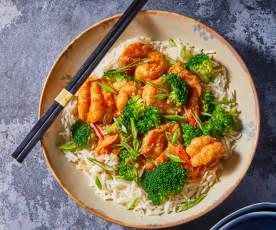 Spicy Szechuan Shrimp and Broccoli