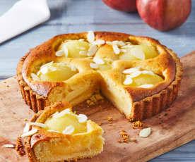 Tarta de pera y almendra