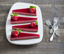 Vegan Turkish delight cheesecake