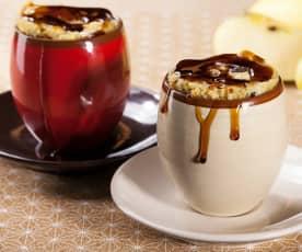 Mug cake aux pommes et aux raisins secs