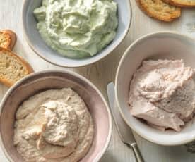 Mousse di prosciutto, tonno o formaggio