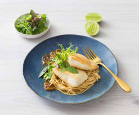 Fish with ginger lime sauce
