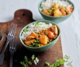 Tajskie curry z kurczaka z ryżem