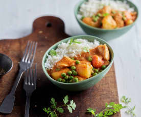 Quick Thai Chicken Curry with Basmati Rice