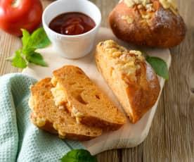 蕃茄蘿勒乳酪麵包