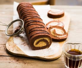 Roulé de speculoos au chocolat