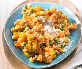 Hirsotto mit Gemüse mexicana