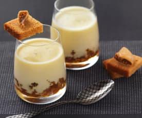 Panna cotta de foie con compota de higos y manzana