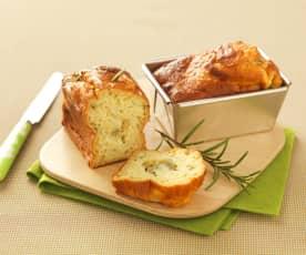 Plumcake salato con miele, rosmarino e Gorgonzola