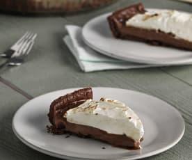 Pie de chocolate y merengue