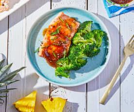 Pineapple Teriyaki Salmon