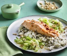 Asia-Lachs mit Gurkensalat