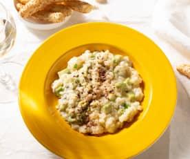 Arroz cremoso con gorgonzola y aguacate