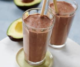 Schoko-Kaffee-Proteinshake mit Avocado