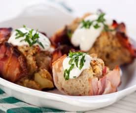 Kartoffelrösti in Baconhülle