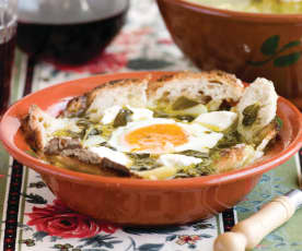 Sopa de beldroegas com queijo fresco