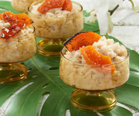 Sticky Coconut Rice with Brûléed Papaya
