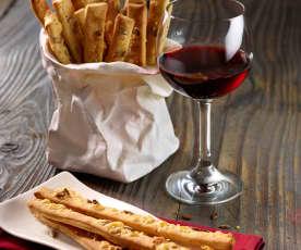 Käsegebäck zu Wein