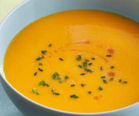 Crema fría de zanahorias al aroma de jengibre