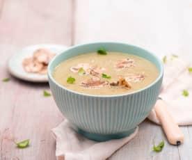 Zupa krem z pieczarek i cukinii