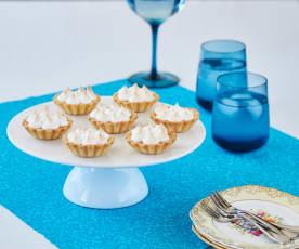 Lime meringue tartlets