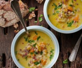 Zuppa d'orzo grigionese