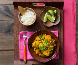 Pulse and pumpkin curry