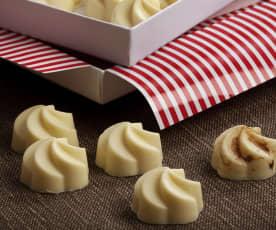 Bon bon al cioccolato bianco