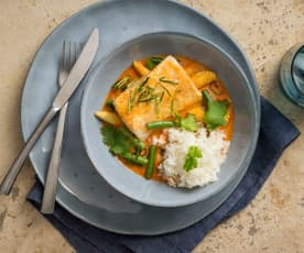 Rotes Fisch-Curry