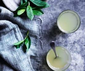 Lemongrass, mint and ginger tea