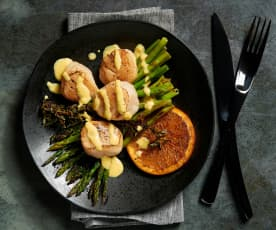 Sous-vide Scallops with Saffron Sauce