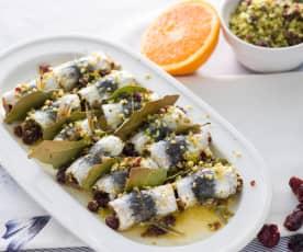Rollos de sardina al horno