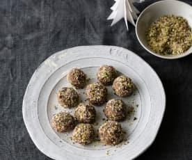 Blackberry vinegar chocolate truffles