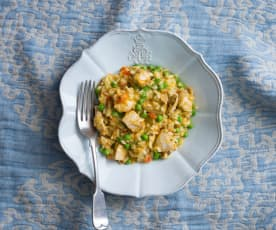 Apricot chicken risotto