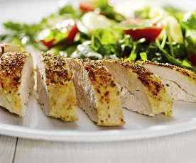 Kuřecí prsa s lehkým bramborovým salátem