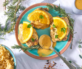 Orange Herb Chicken and Rice