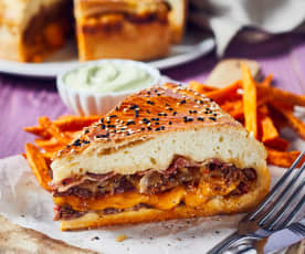 XXL-Bacon-Zwiebel-Cheeseburger