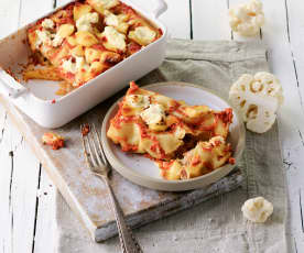 Cannelloni s květákem a salsicciou