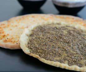 Za'atar flat bread (mankouche)