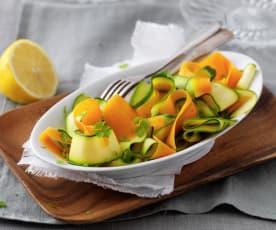 Tagliatelle de carotte et courgette vapeur