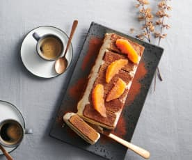 Tiramisu glacé à l'orange