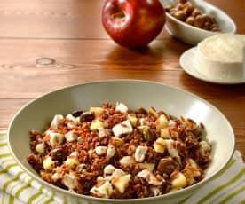 Insalata di riso rosso e mele