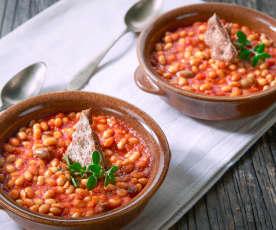 Fagioli di soia alla mediterranea (vegan)