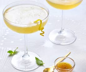 Cocktail citron-gingembre et champagne