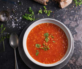Sopa marroquí de lentejas rojas